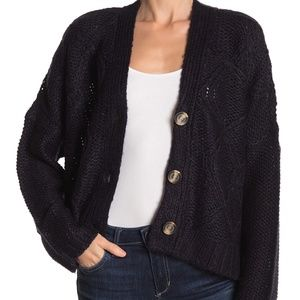 Cloth By Design Cozy Fisherman Cable Knit Cardigan